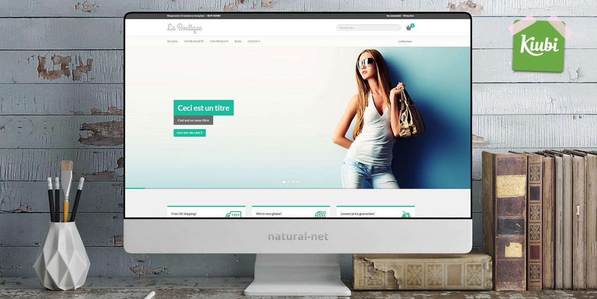 Pretty ecommerce Template pour Kiubi