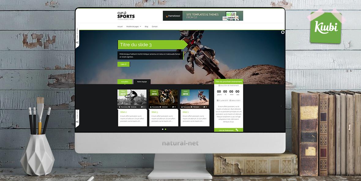 Sport Responsive HTML5 Template pour Kiubi