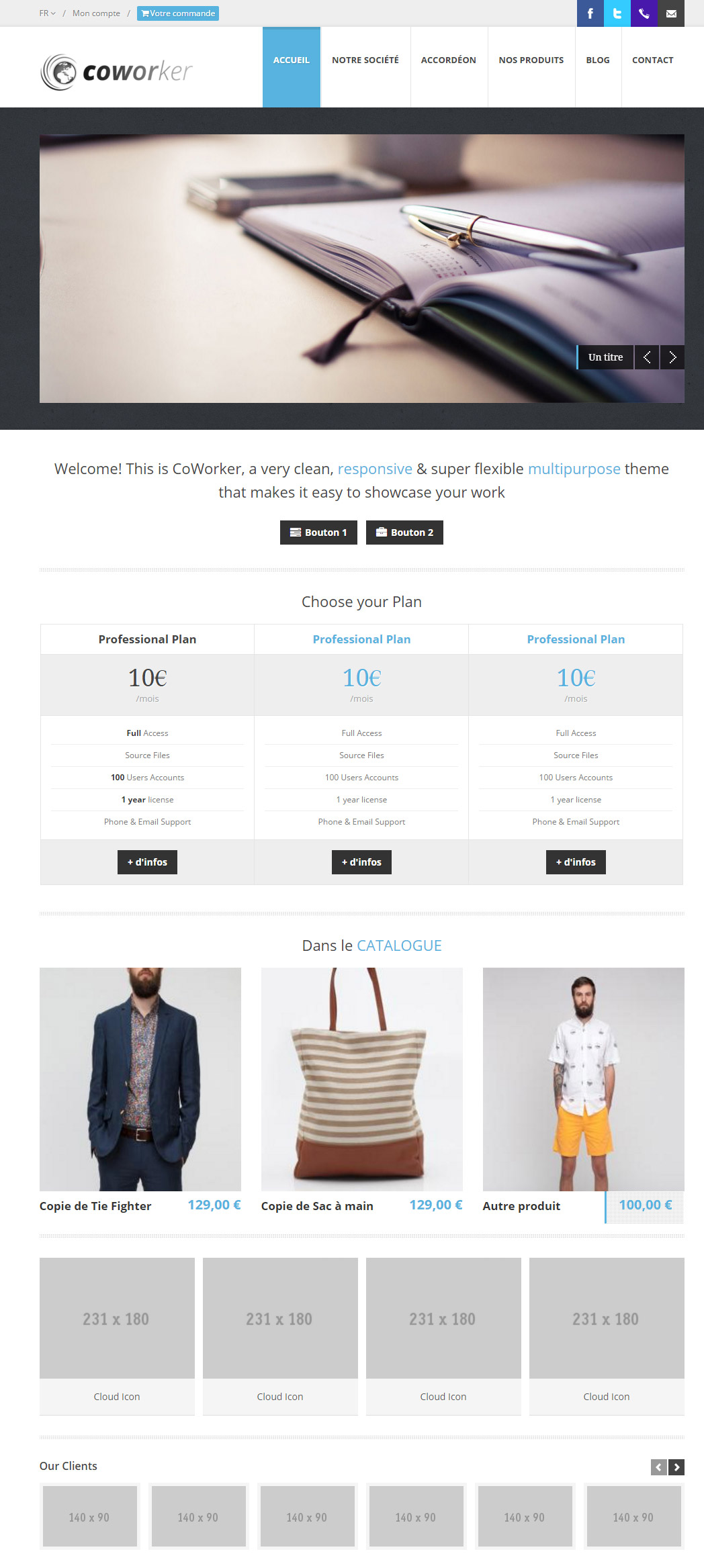 Pretty ecommerce Template 2 pour Kiubi