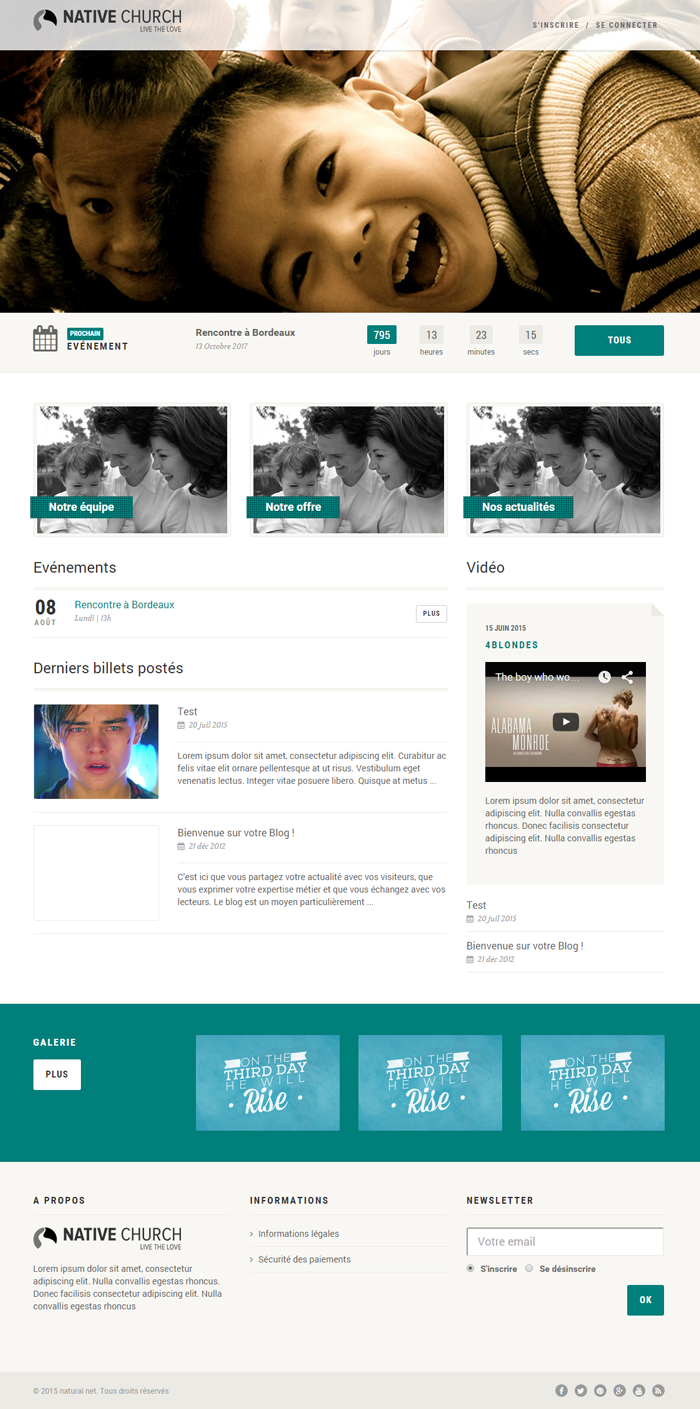 Association Responsive HTML5 Template pour Kiubi