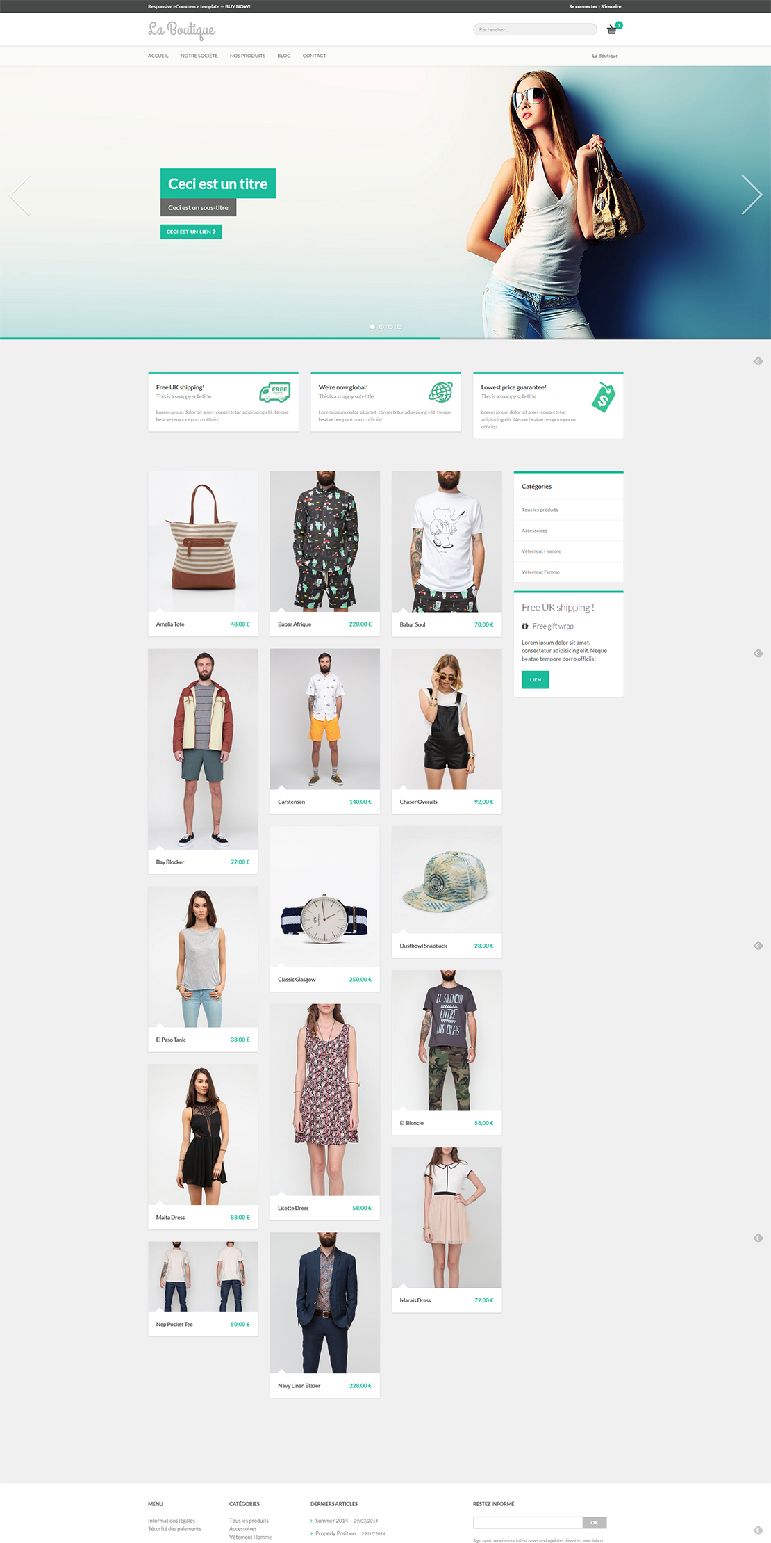 Pretty ecommerce Template pour Kiubi